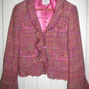 Jackets & Blazers - Pink Tweed Boucle Jacket